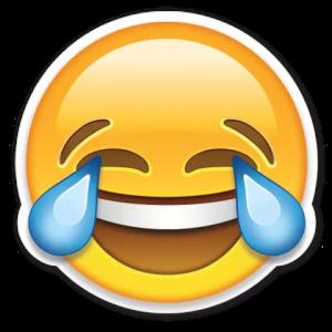 Reprodução: Emoji chorando de rir