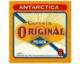 Logo Vintage da Cerveja Original - Antarctica